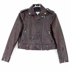 Style & Co. Washed Faux Leather Moto Jacket, XS